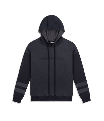 HD457 Oversized Two Tone Essential Hoody - Black