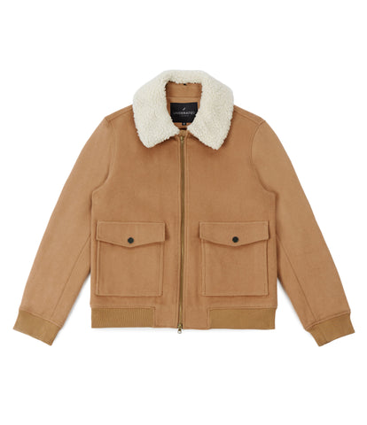 BM20 Shearling-Trimmed Wool Jacket - Camel - underated london - underatedco - 2