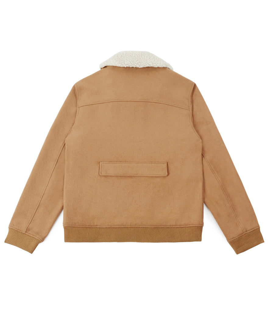 BM20 Shearling-Trimmed Wool Jacket - Camel - UNDERATED