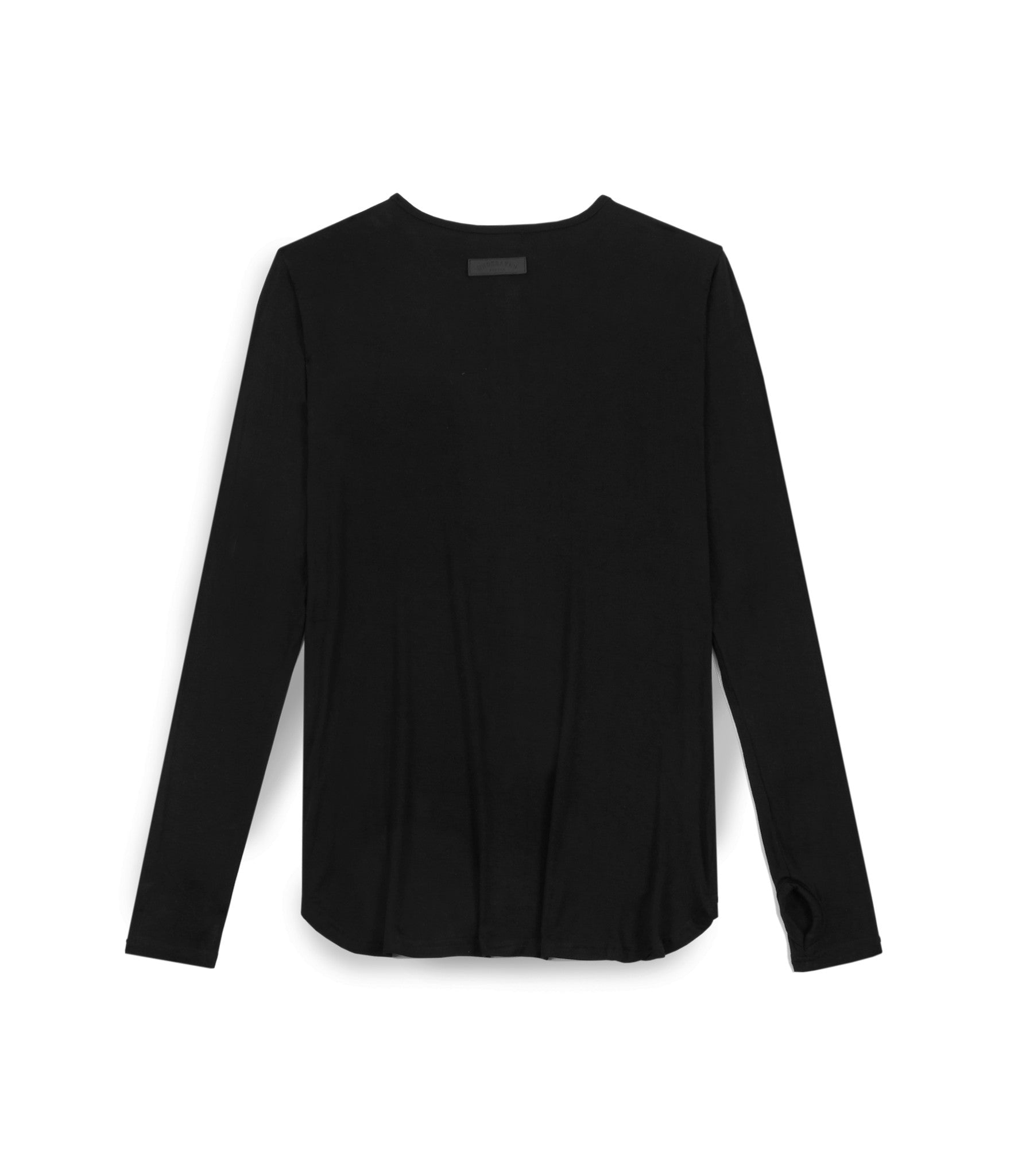 LS264 Under Layer Henley Tee - Black - underated london - underatedco - 2