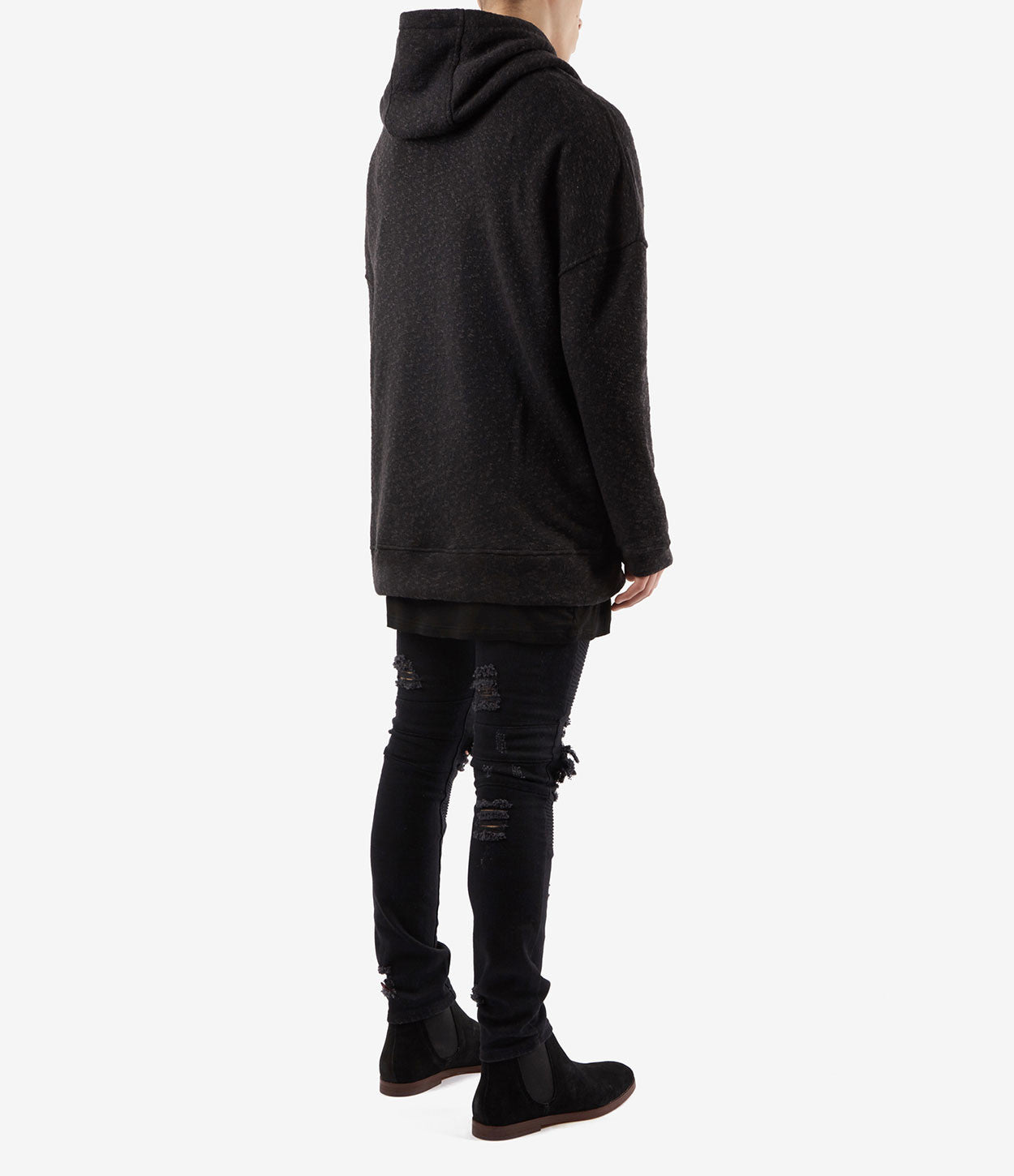 HD378 Oversized Knit Hoody - Charcoal/Black - underated london - underatedco - 4