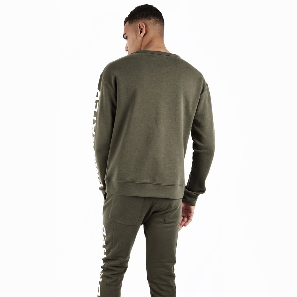SW344 Asymmetric Zip Sweatshirt - Khaki - underated london - underatedco - 6