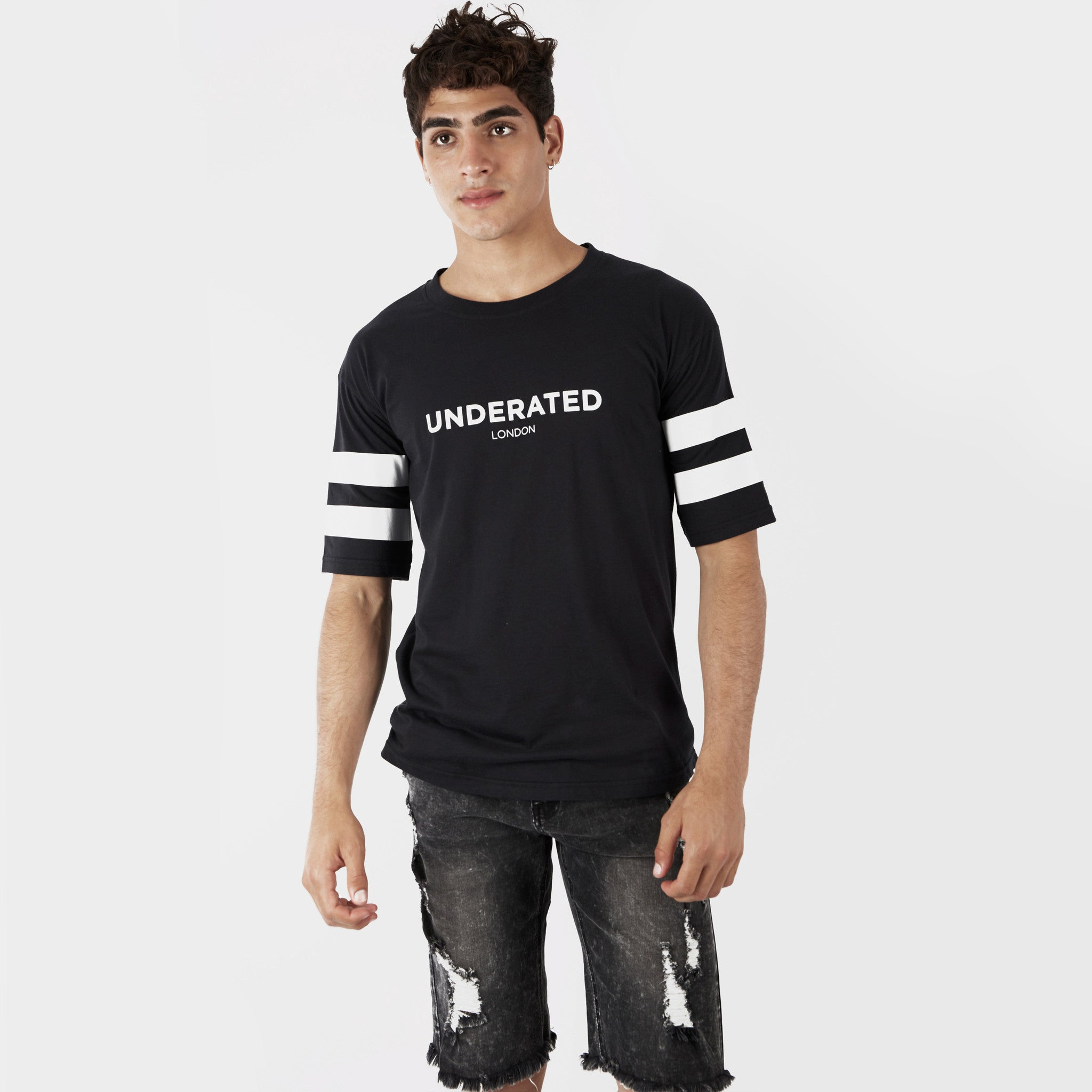 TS404 Print Tee - Black - underated london - underatedco - 5
