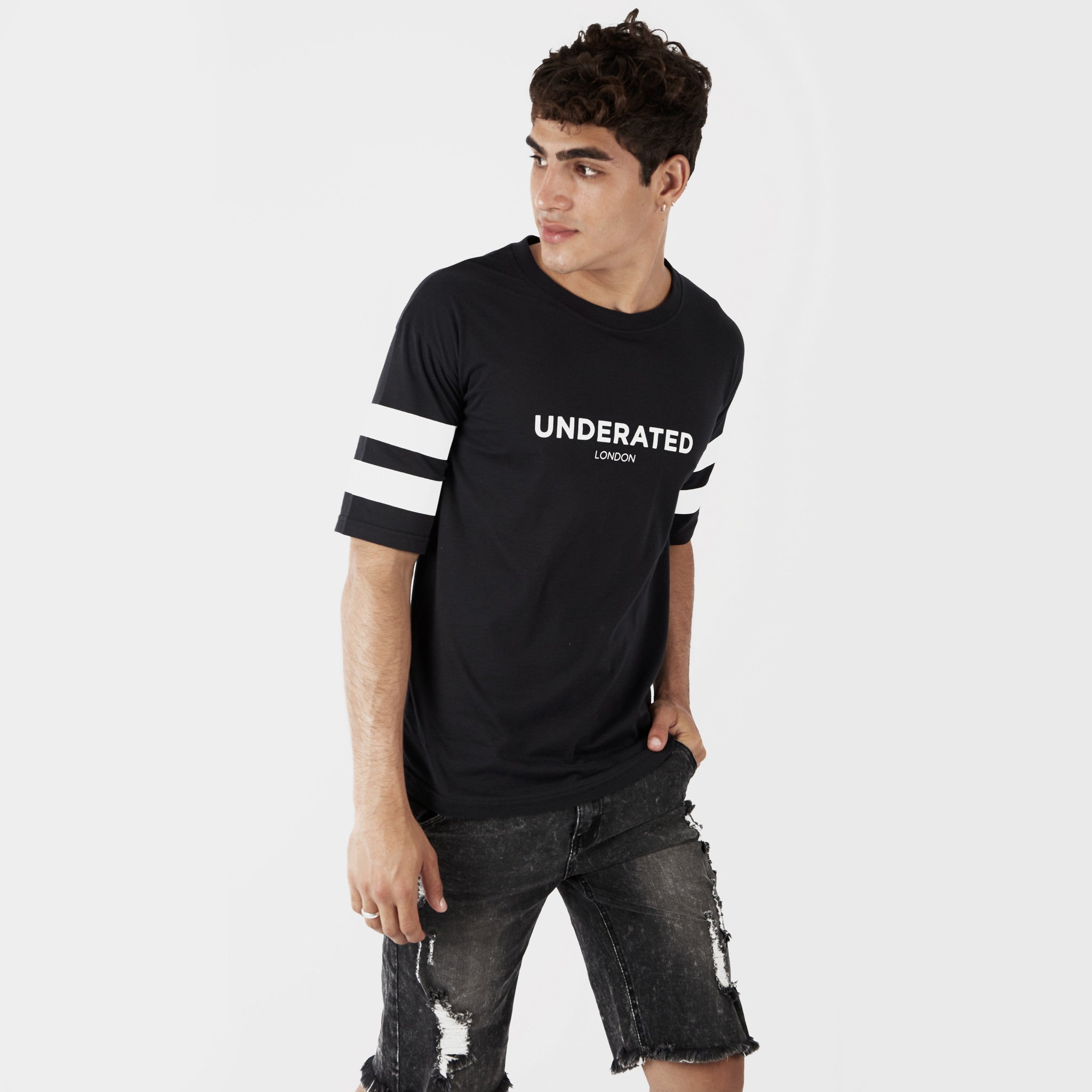 TS404 Print Tee - Black - underated london - underatedco - 6