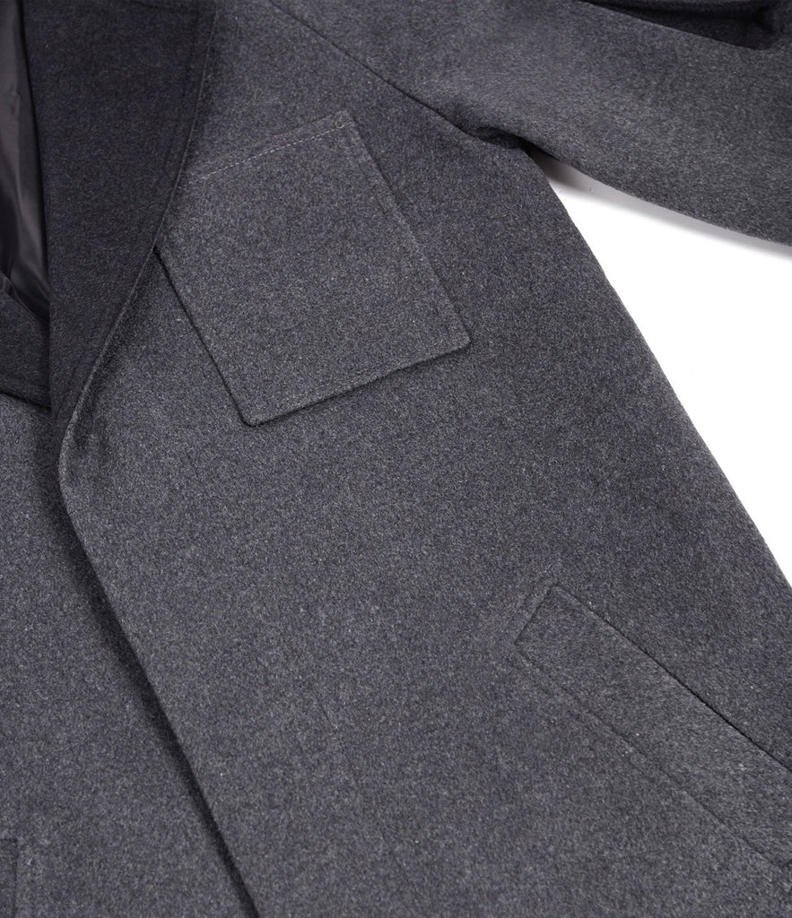 CT369 Utility Wool Overcoat - Charcoal - underated london - underatedco - 6