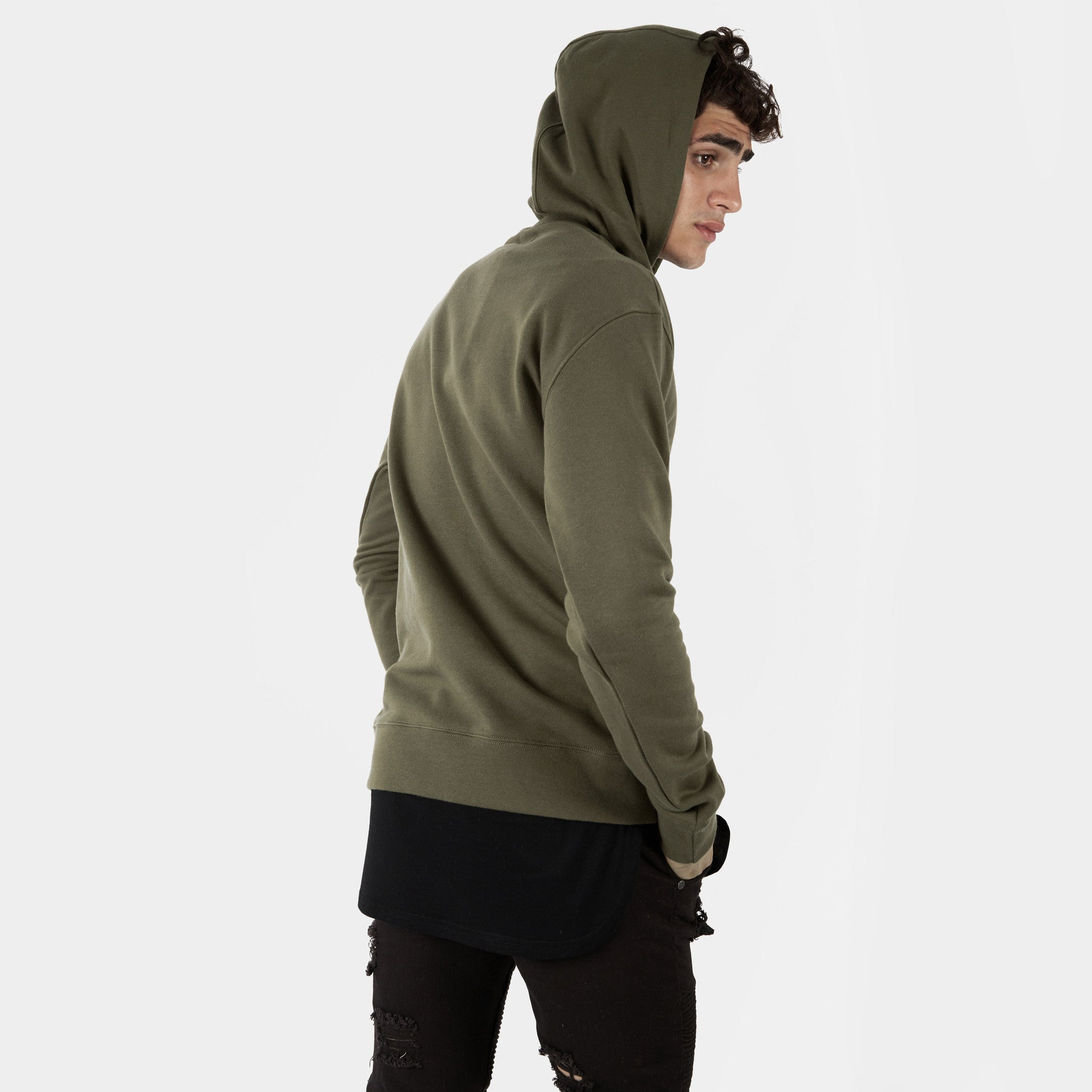 HD395 Essential Print Hoody - Khaki - underated london - underatedco - 4