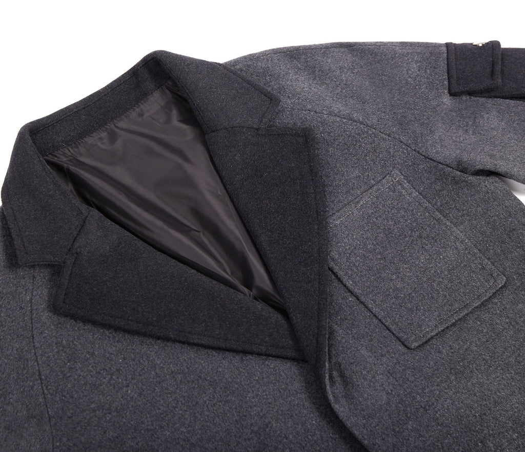 CT369 Utility Wool Overcoat - Charcoal - underated london - underatedco - 5