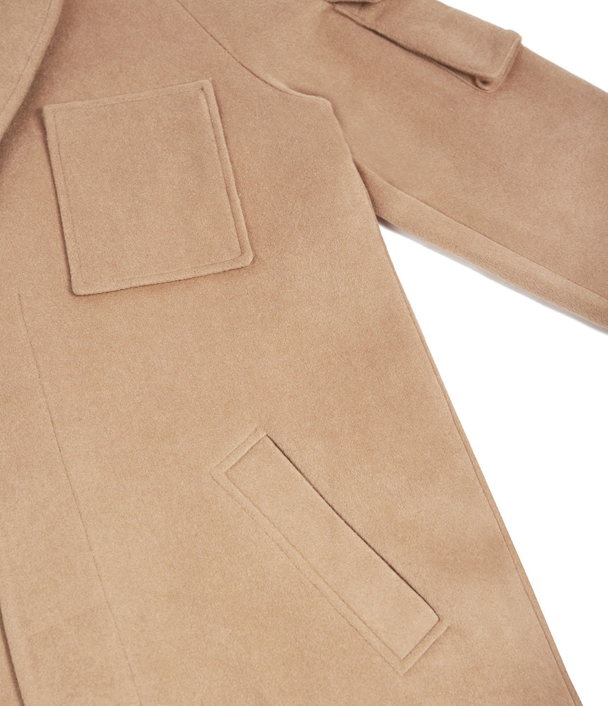 CT369 Utility Wool Overcoat - Camel - underated london - underatedco - 6