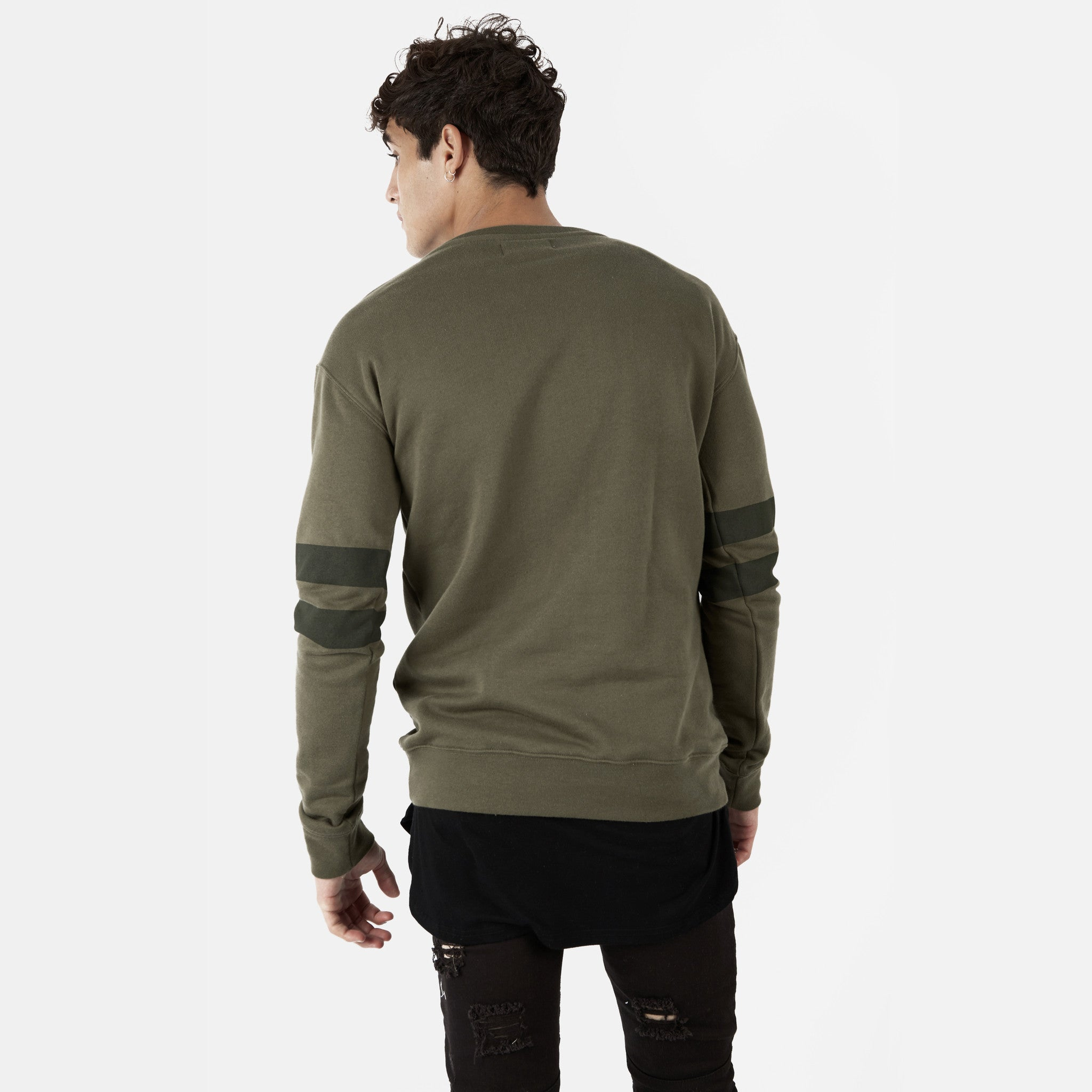 SW400 Tonal Print Sweatshirt - Khaki - underated london - underatedco - 5