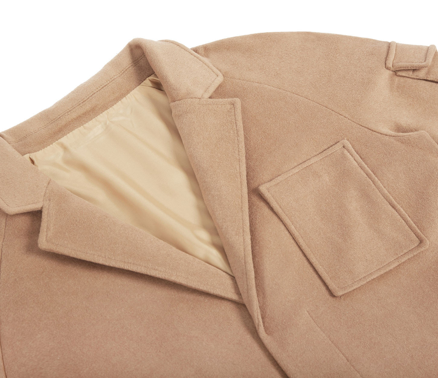 CT369 Utility Wool Overcoat - Camel - underated london - underatedco - 5