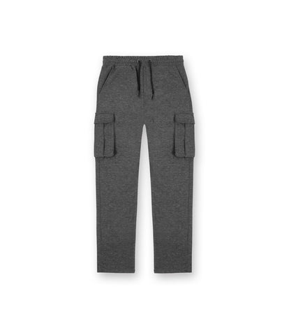 TR253 Wool Blend Cropped Cargo Pants - Charcoal - UNDERATED