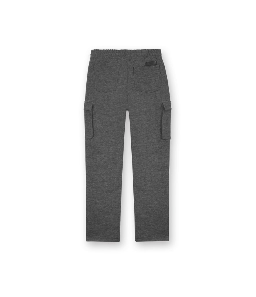 TR253 Wool Blend Cropped Cargo Pants - Charcoal - underated london - underatedco - 3
