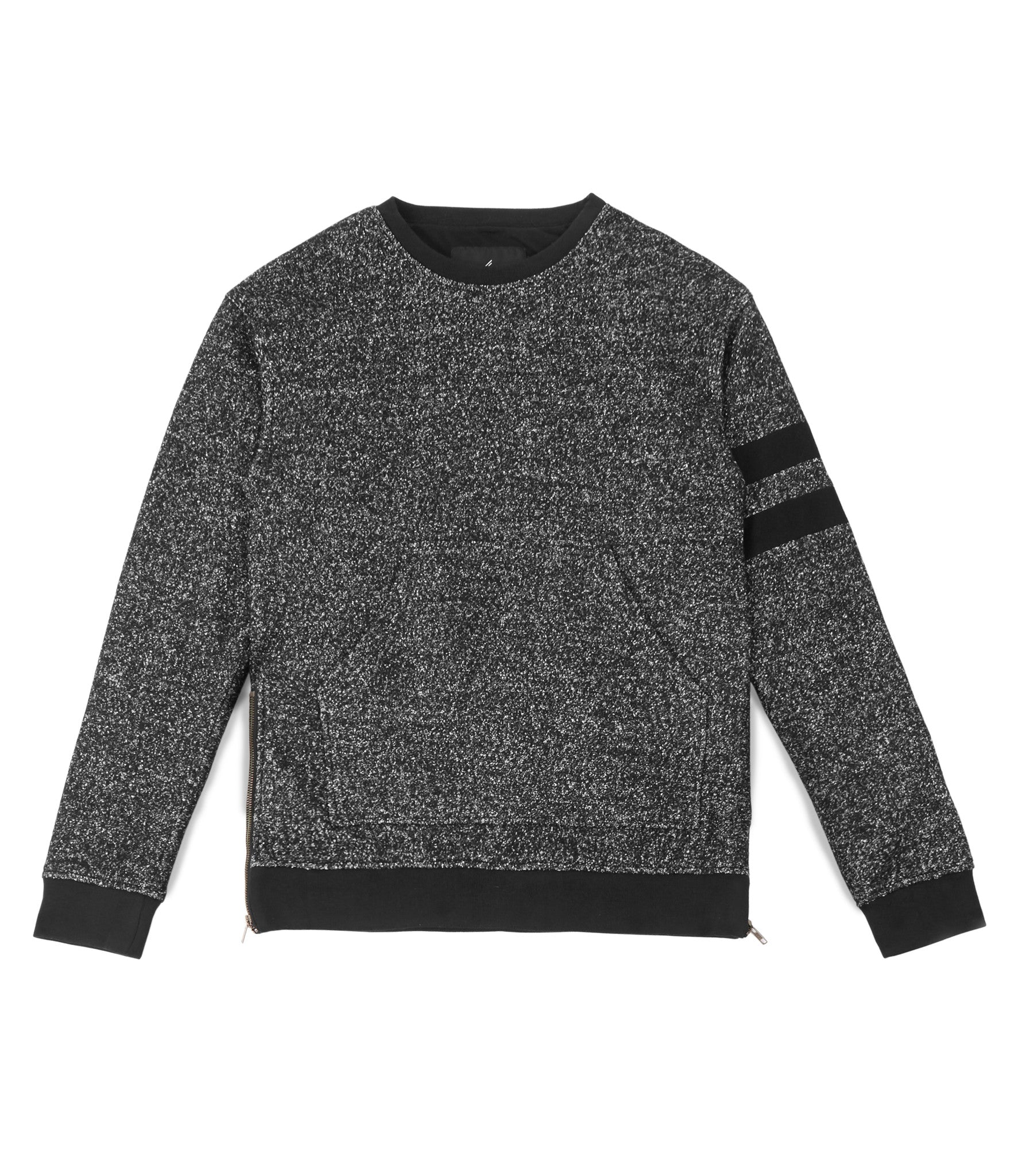 SW301 Oversized Mélange Wool Sweatshirt - Black - underated london - underatedco - 2