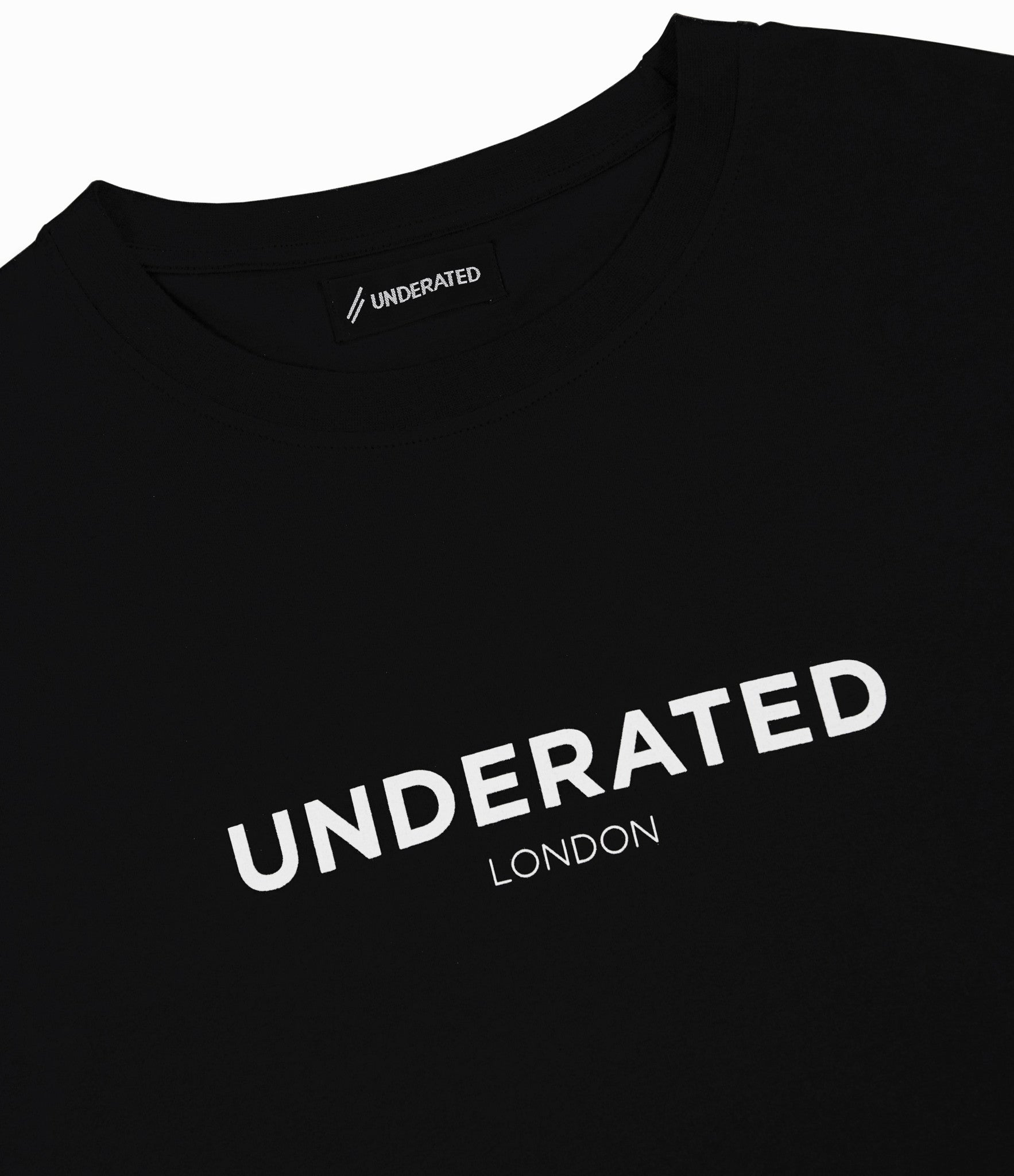 TS404 Print Tee - Black - underated london - underatedco - 2