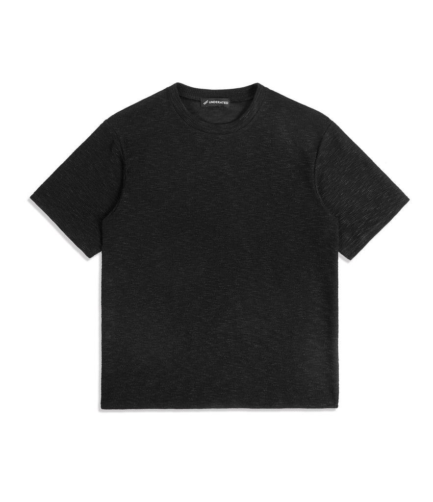 TS421 Oversized Tee - Black Knit - UNDERATED