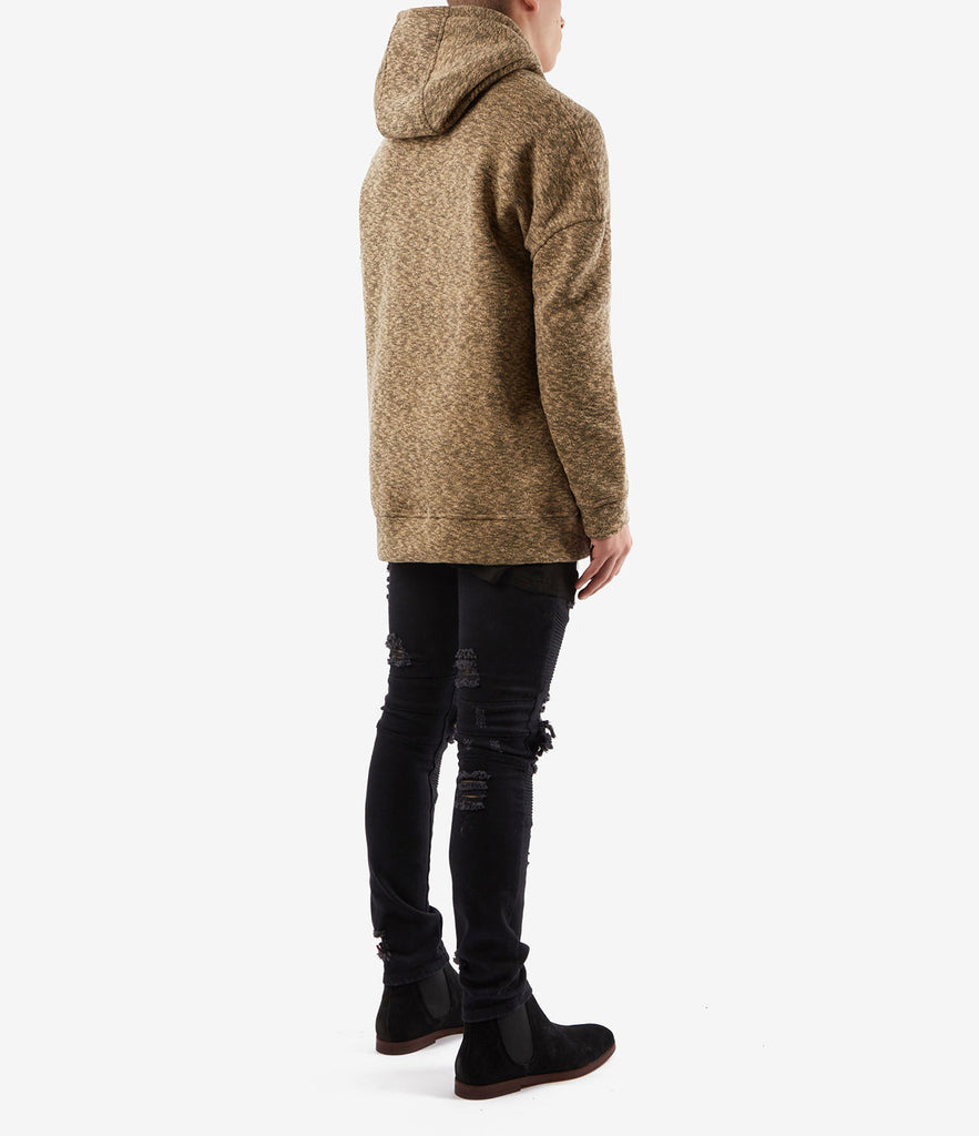 HD378 Oversized Knit Hoody - Sand/Black - underated london - underatedco - 4