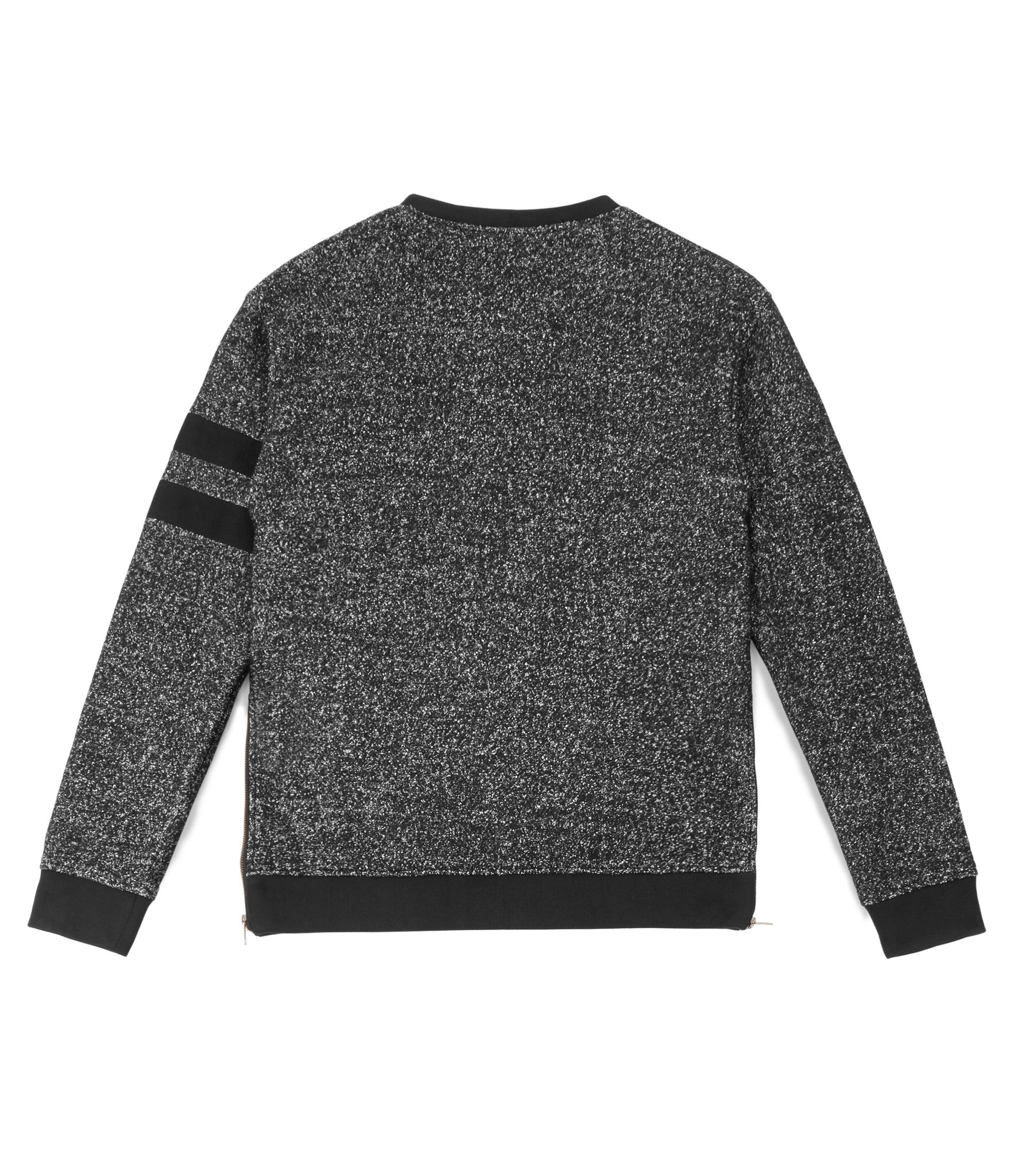 SW301 Oversized Mélange Wool Sweatshirt - Black - underated london - underatedco - 5