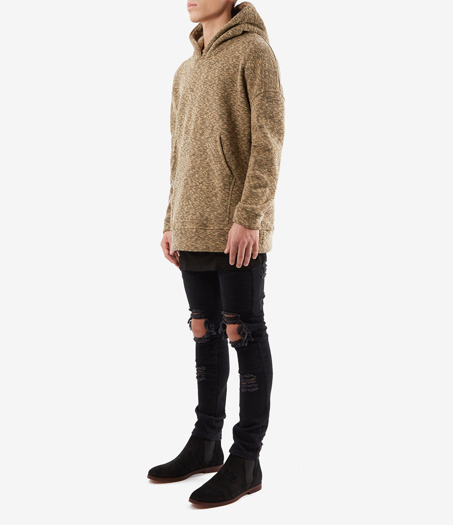 HD378 Oversized Knit Hoody - Sand/Black - underated london - underatedco - 3