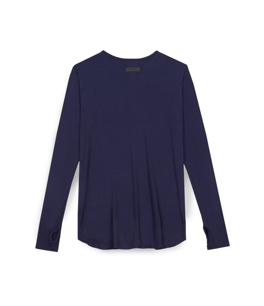 LS264 Under Layer Henley Tee - Navy - UNDERATED