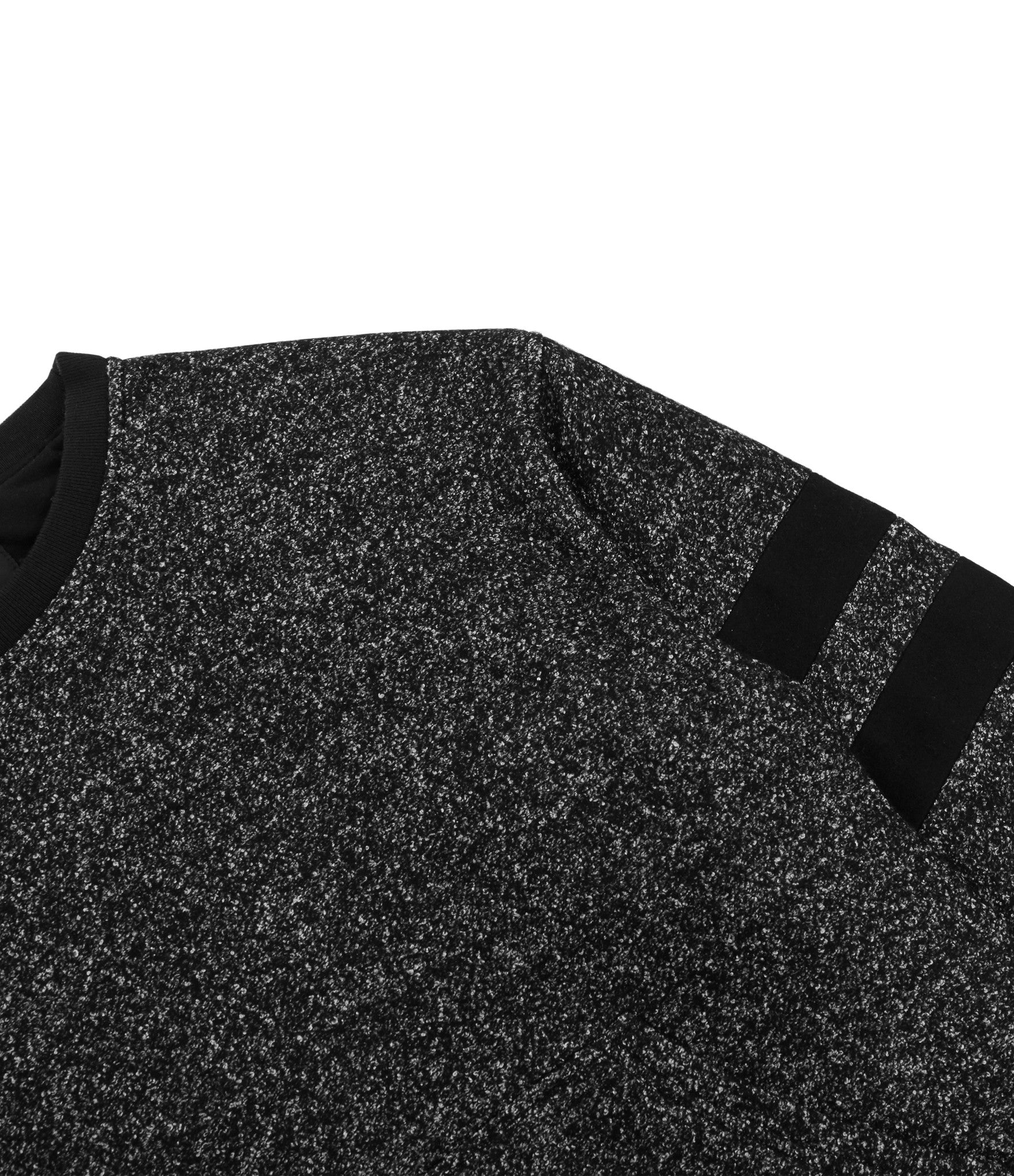 SW301 Oversized Mélange Wool Sweatshirt - Black - underated london - underatedco - 3