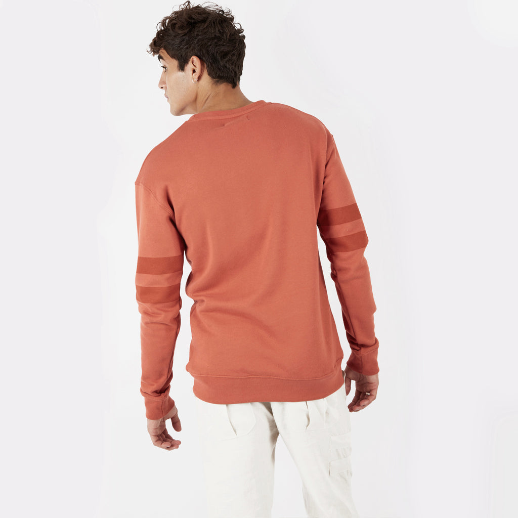 SW400 Tonal Print Sweatshirt - Rust - underated london - underatedco - 5