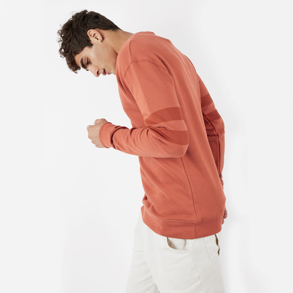 SW400 Tonal Print Sweatshirt - Rust - underated london - underatedco - 6