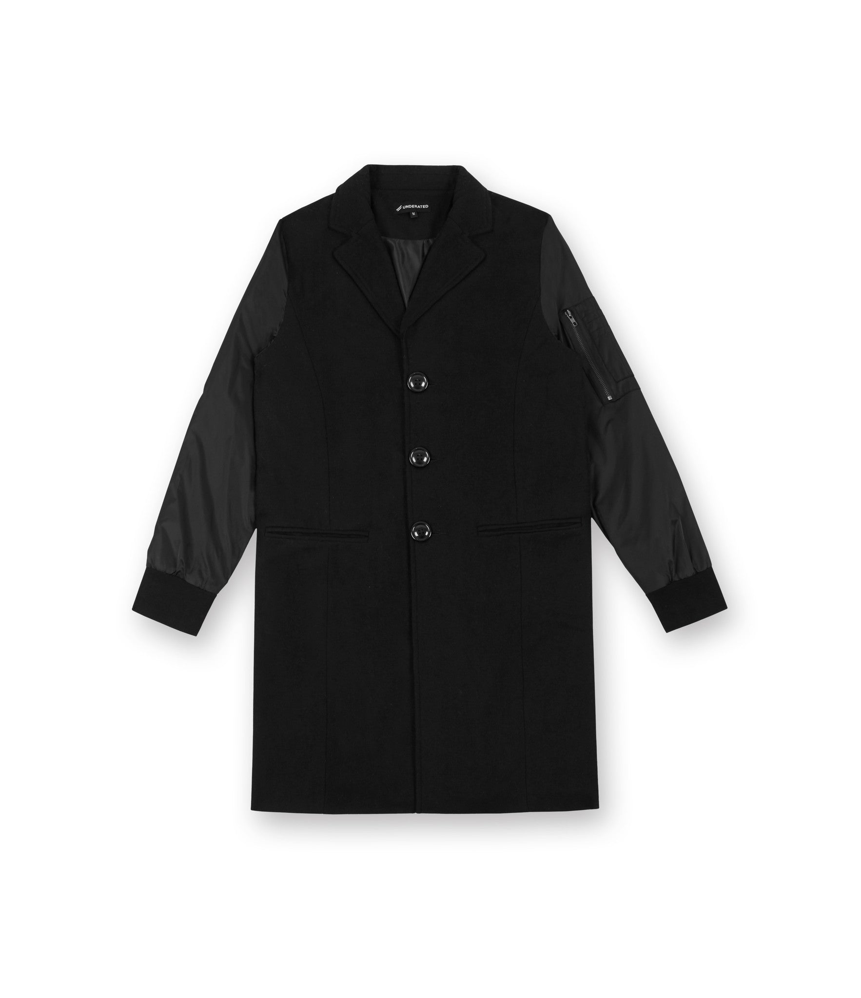 JK215 Hybrid Overcoat - Black - underated london - underatedco - 2