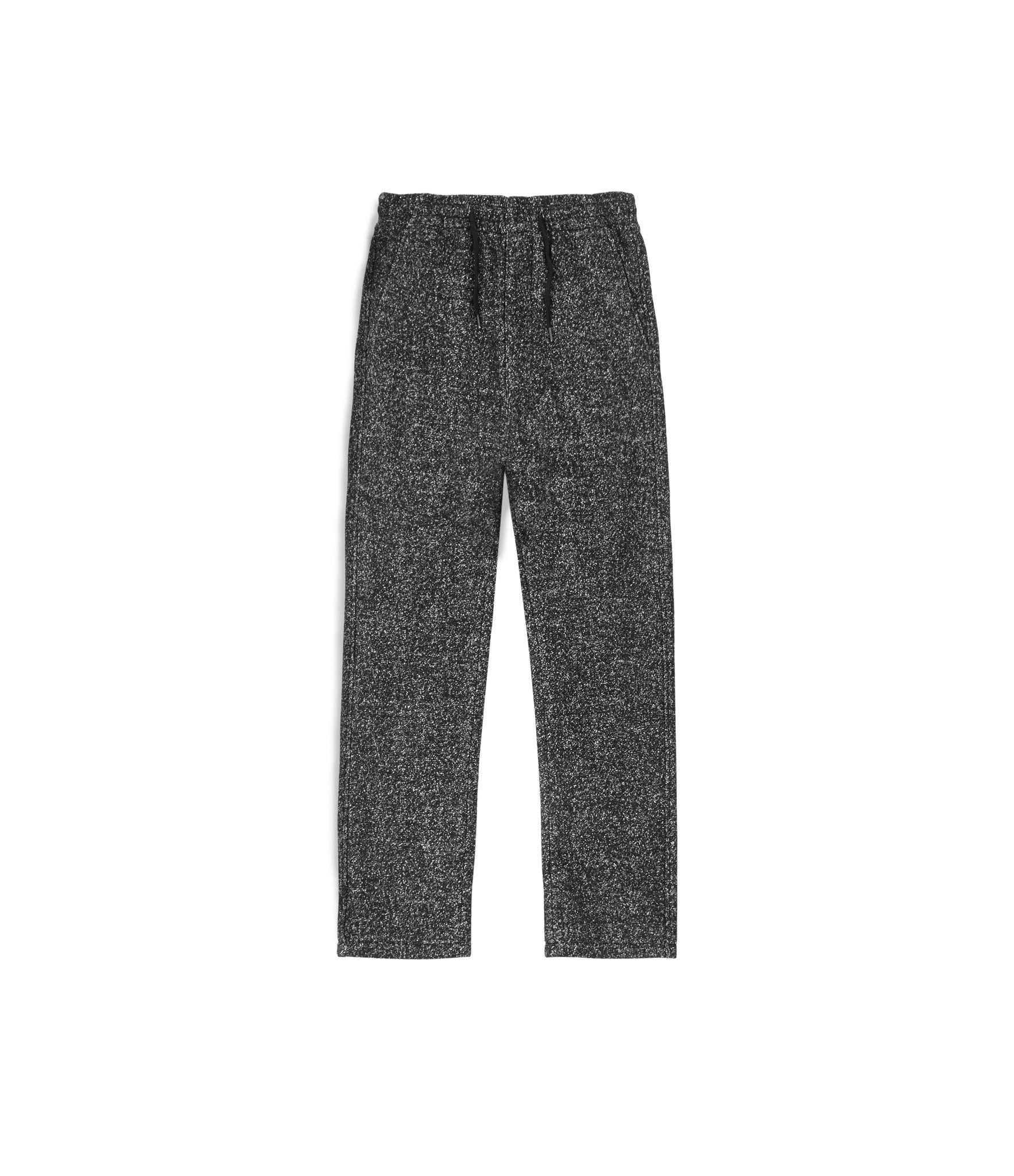 TR254 Mélange Wool Cropped Pants - Black - underated london - underatedco - 2