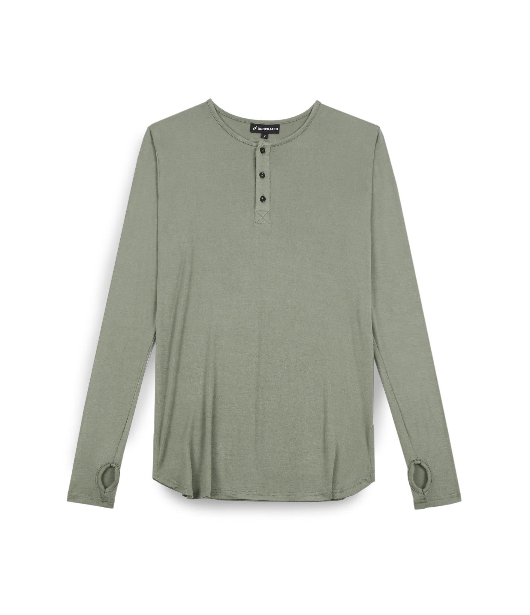 LS264 Under Layer Henley Tee - Khaki - underated london - underatedco - 1