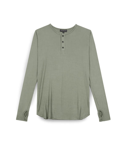 LS264 Under Layer Henley Tee - Khaki - UNDERATED