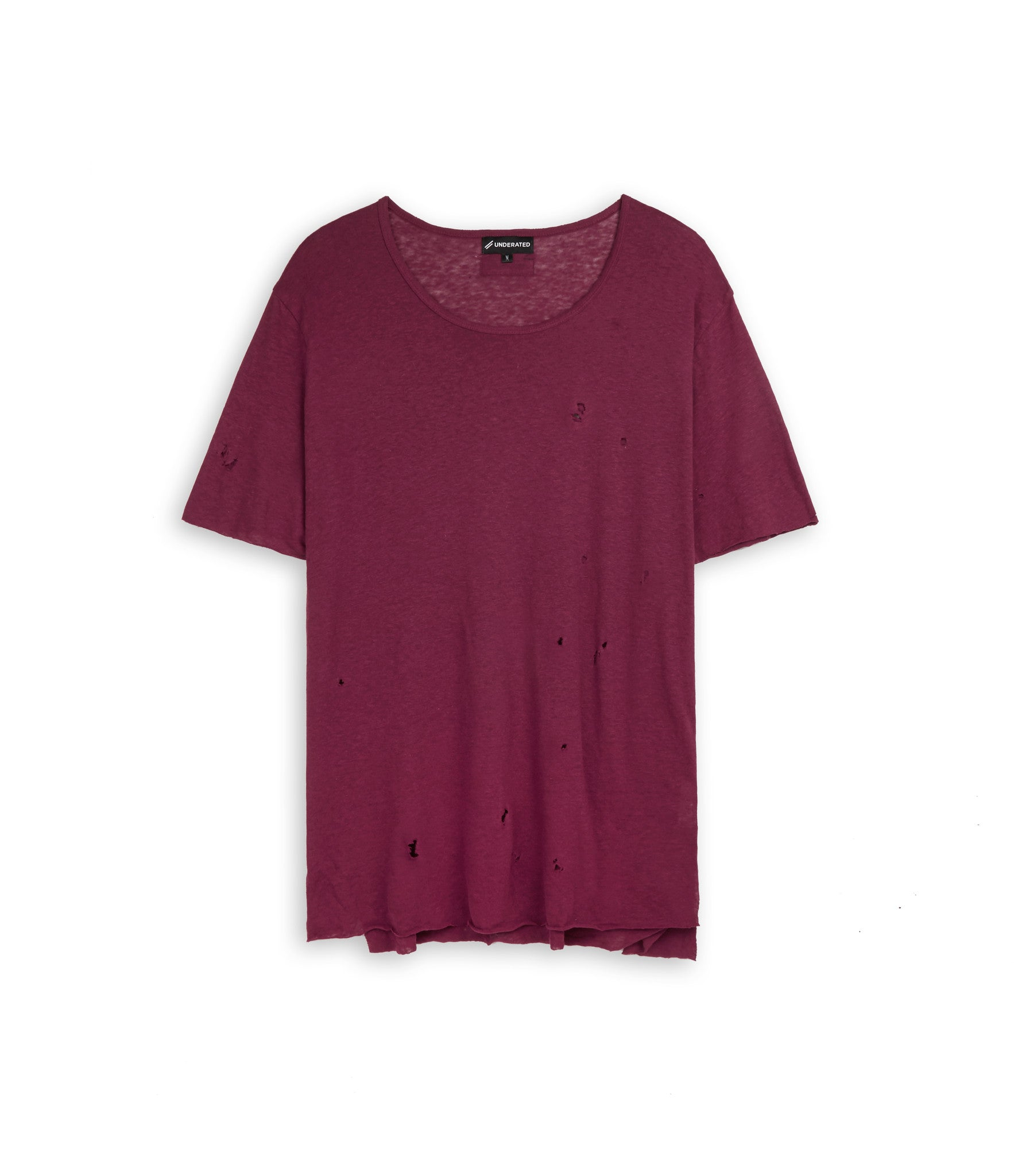 D10V2 Exile Distressed Tee - Oxblood - underated london - underatedco - 1