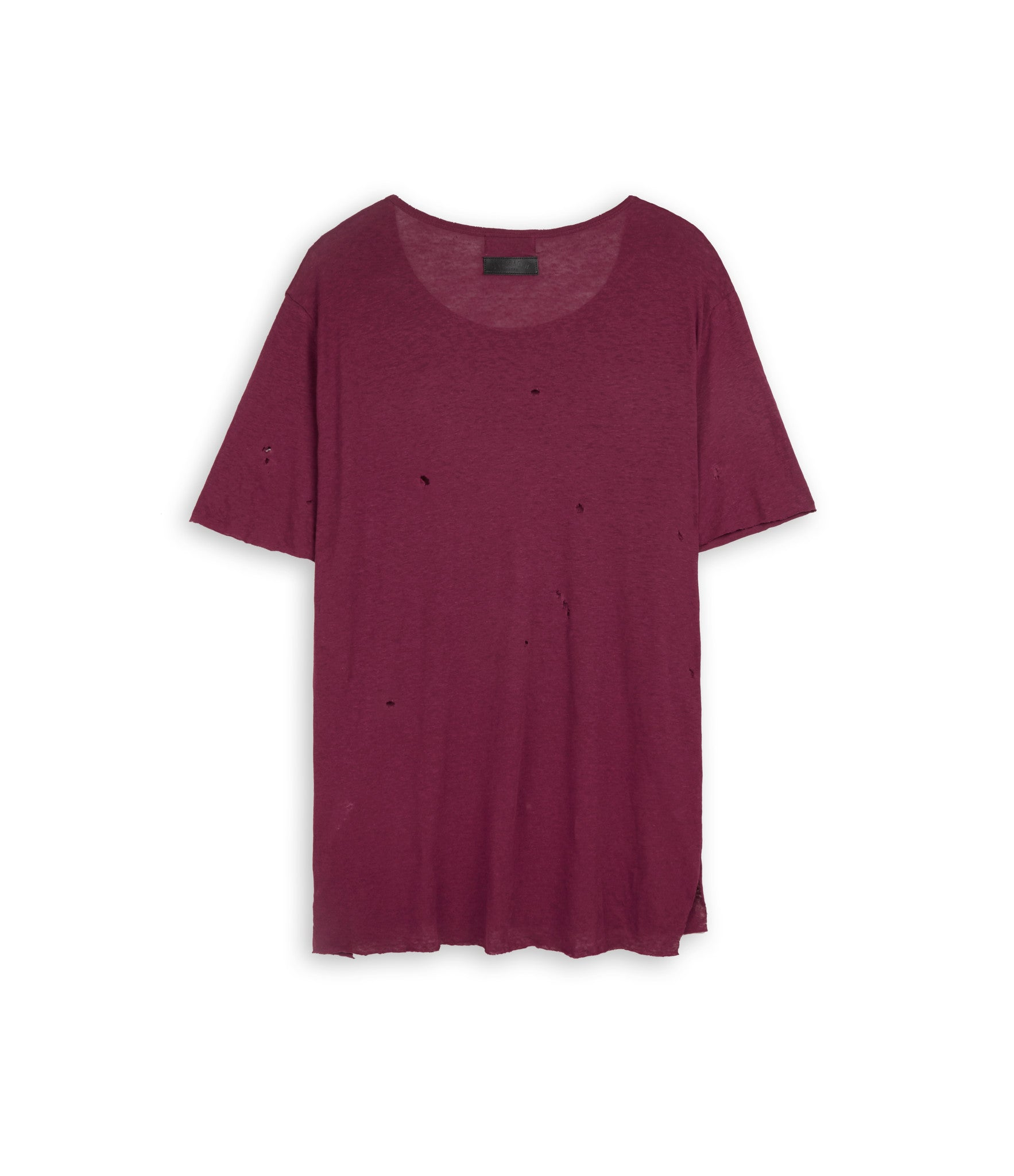 D10V2 Exile Distressed Tee - Oxblood - underated london - underatedco - 3