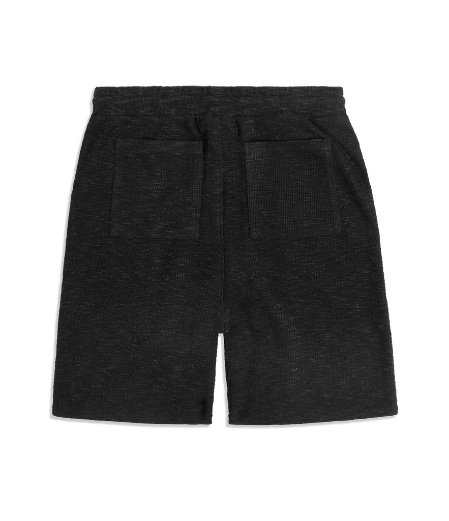 SR427 Straight Leg Shorts - Black Knit - UNDERATED