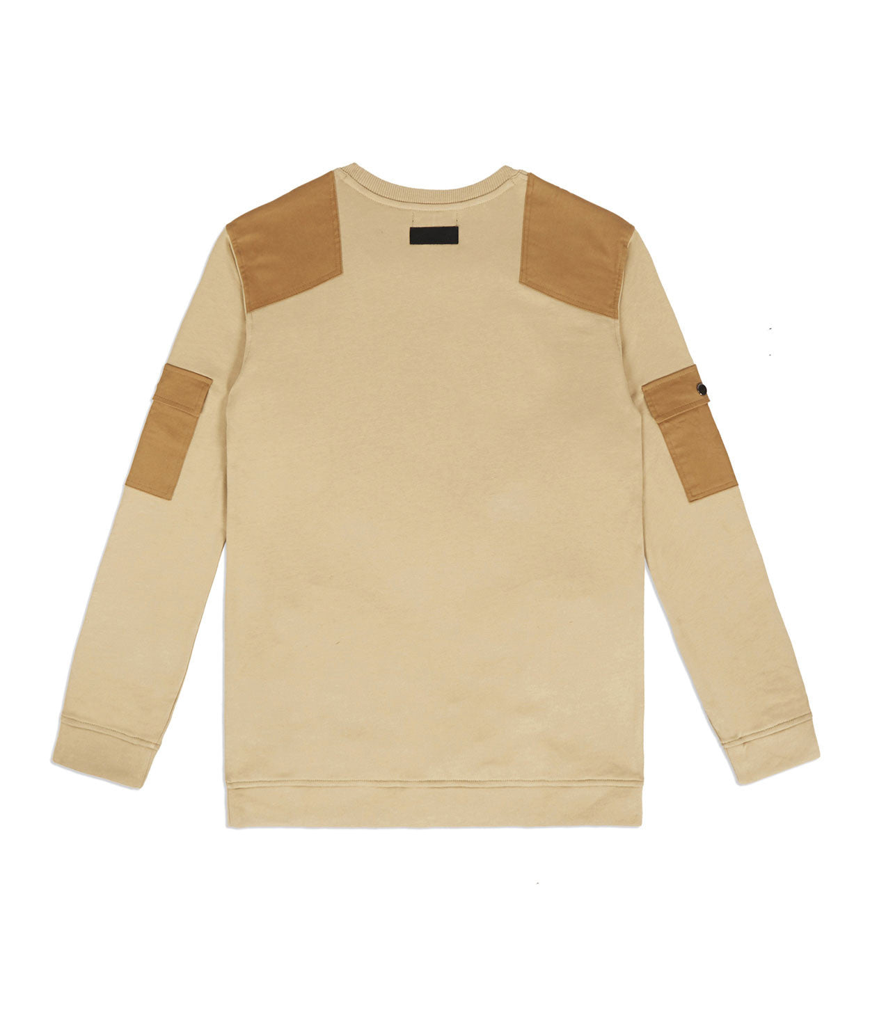 SW376 Utility Cargo Sweatshirt - Beige - underated london - underatedco - 5