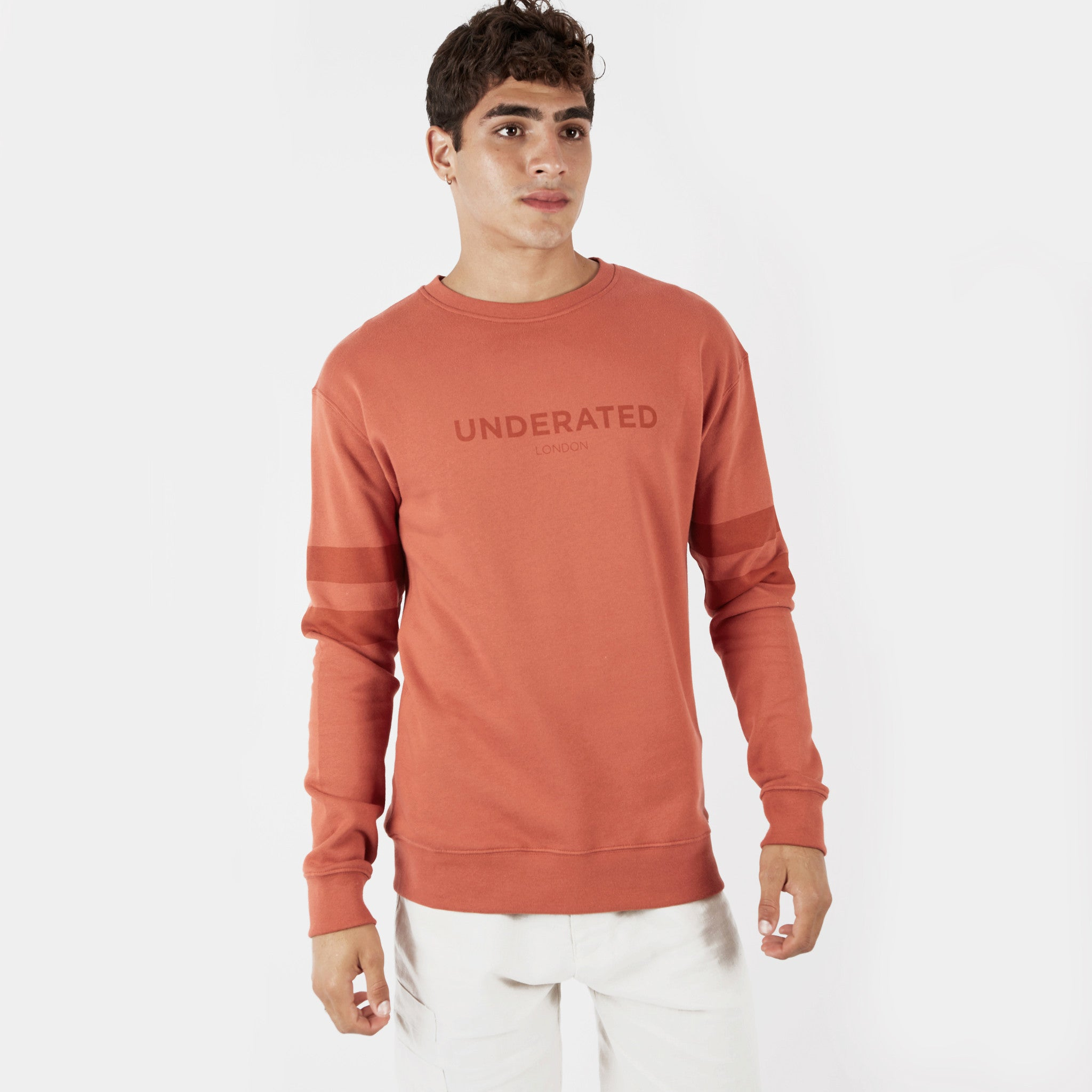 SW400 Tonal Print Sweatshirt - Rust - underated london - underatedco - 1