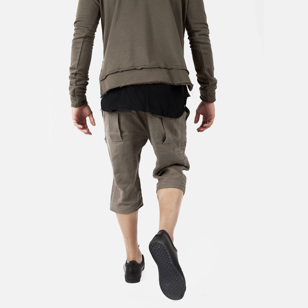 SR282 Exile Linen Shorts - Khaki - underated london - underatedco - 7