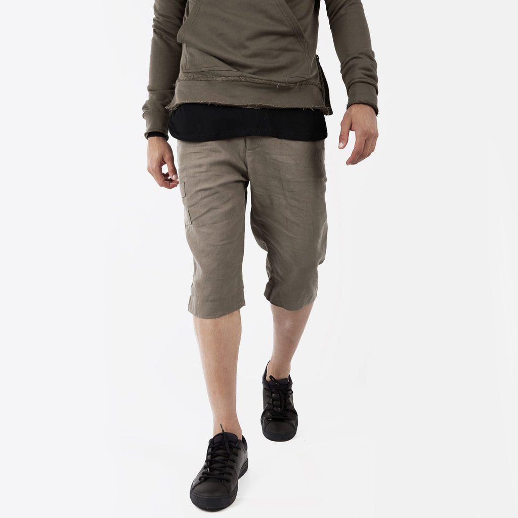 SR282 Exile Linen Shorts - Khaki - underated london - underatedco - 5