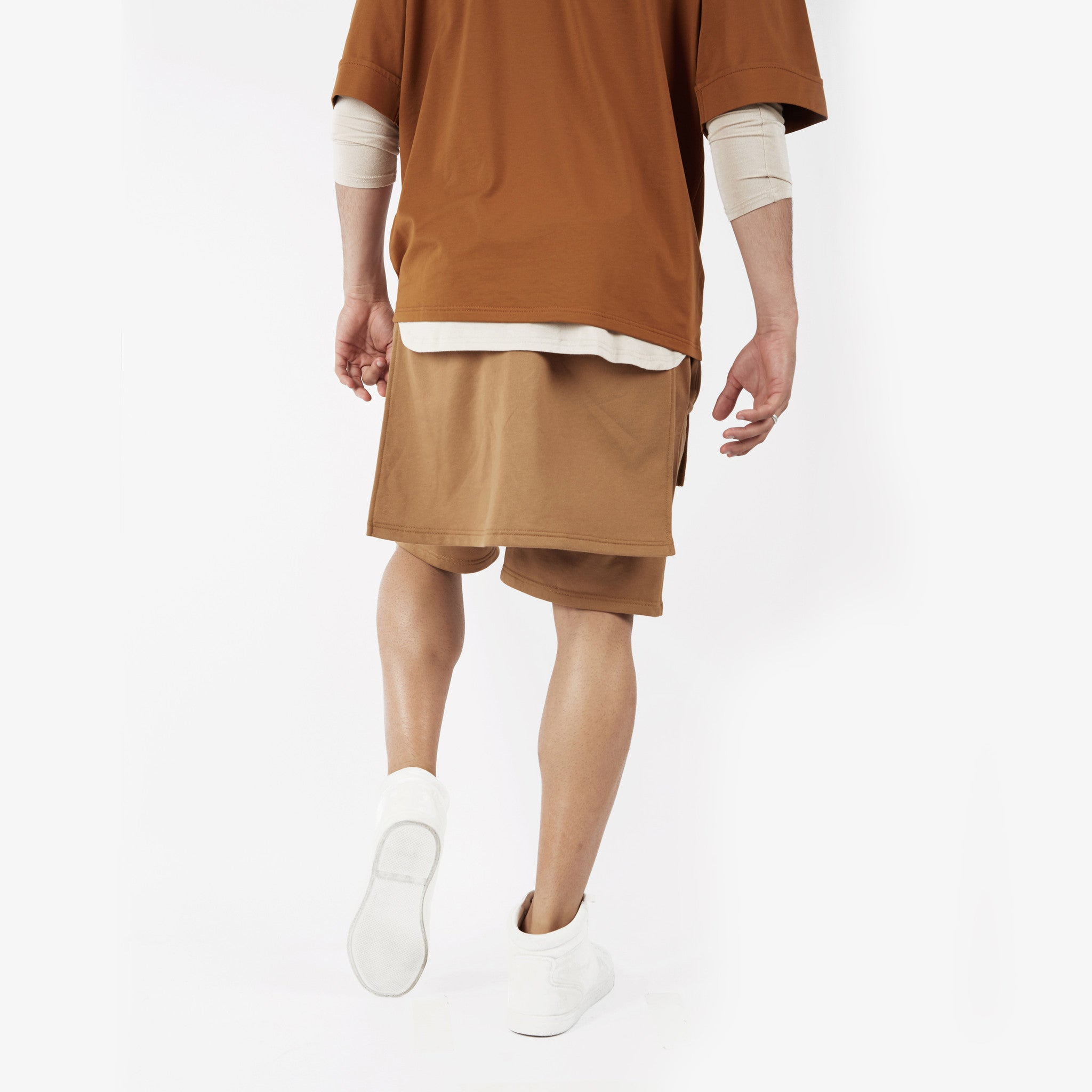 SR054 Layered Shorts - Tan - underated london - underatedco - 5