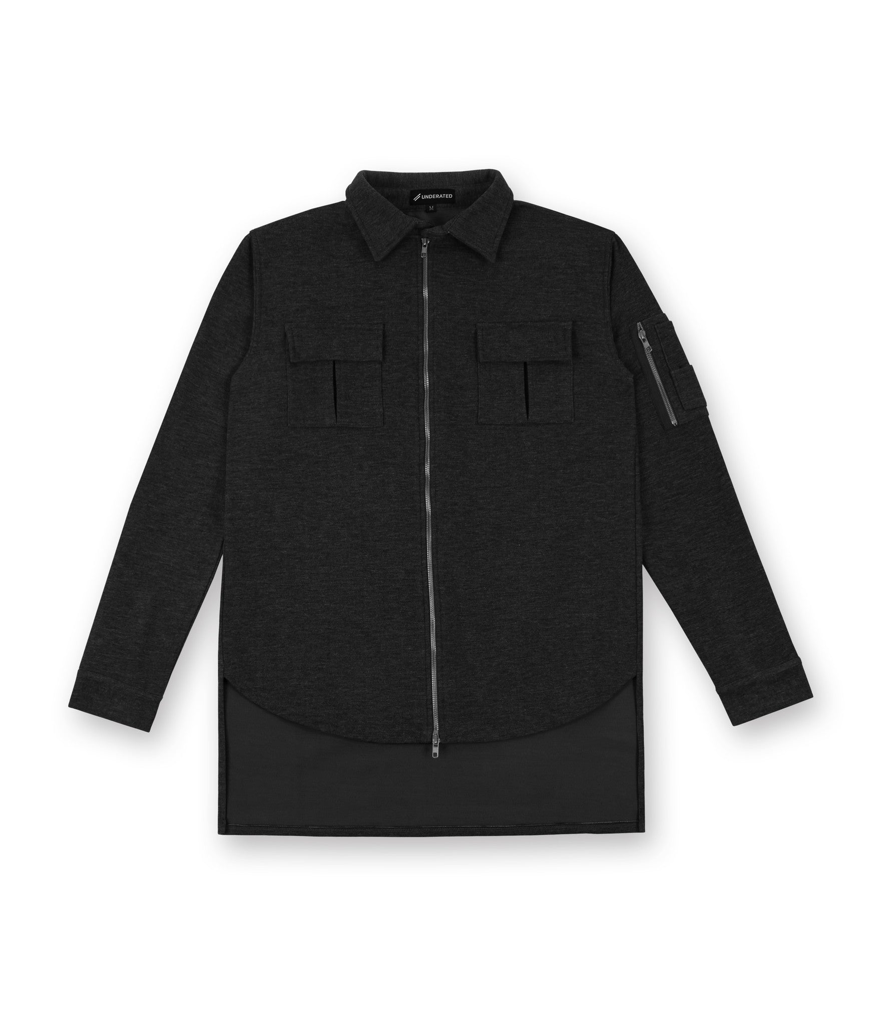 SH238 Wool Blend Utility Shacket - Black - underated london - underatedco - 2