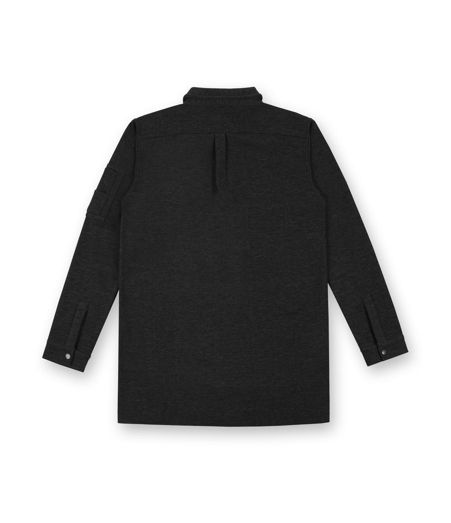 SH238 Wool Blend Utility Shacket - Black - underated london - underatedco - 3