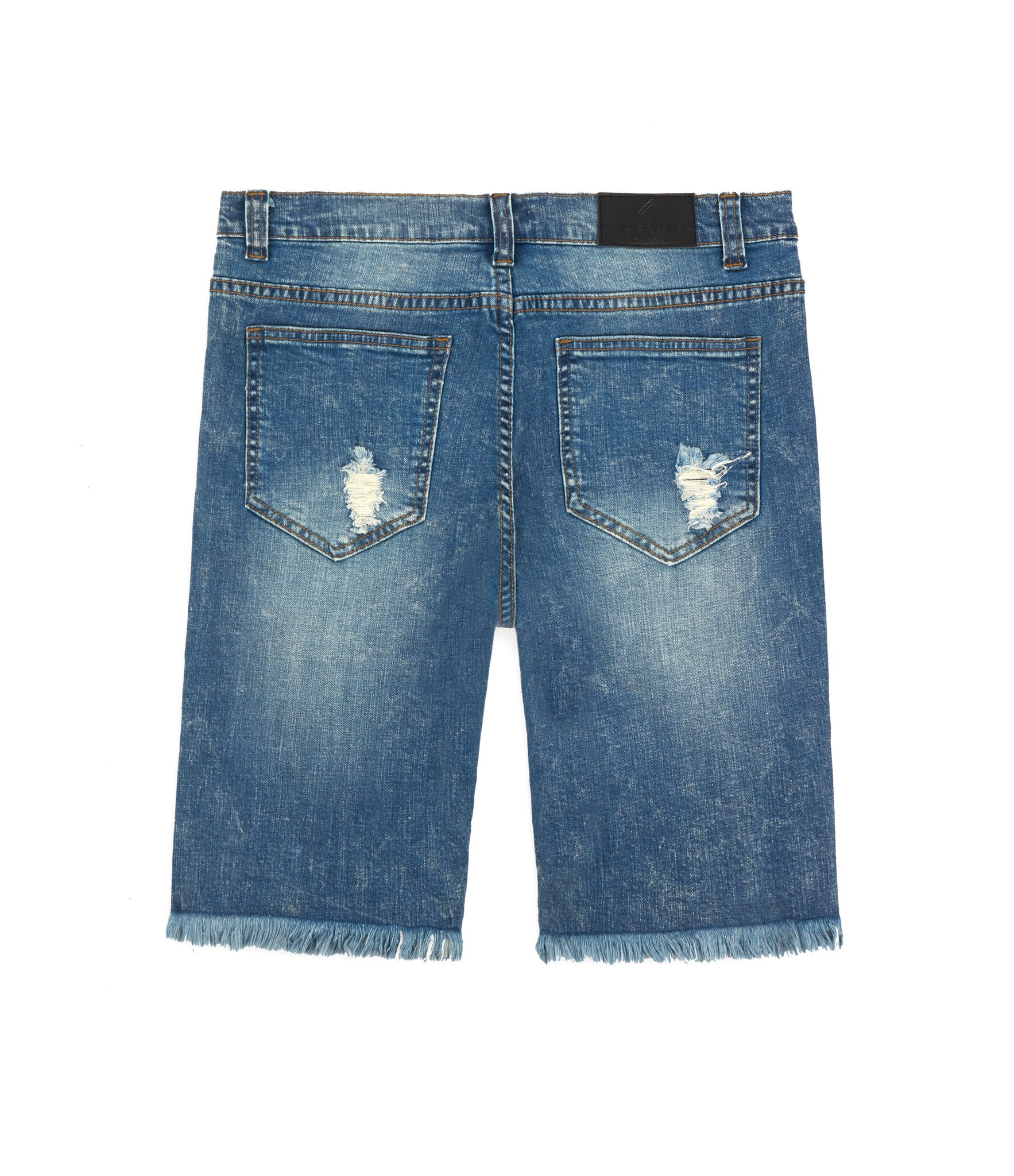 JN213 Distressed Denim Shorts - Blue - underated london - underatedco - 3