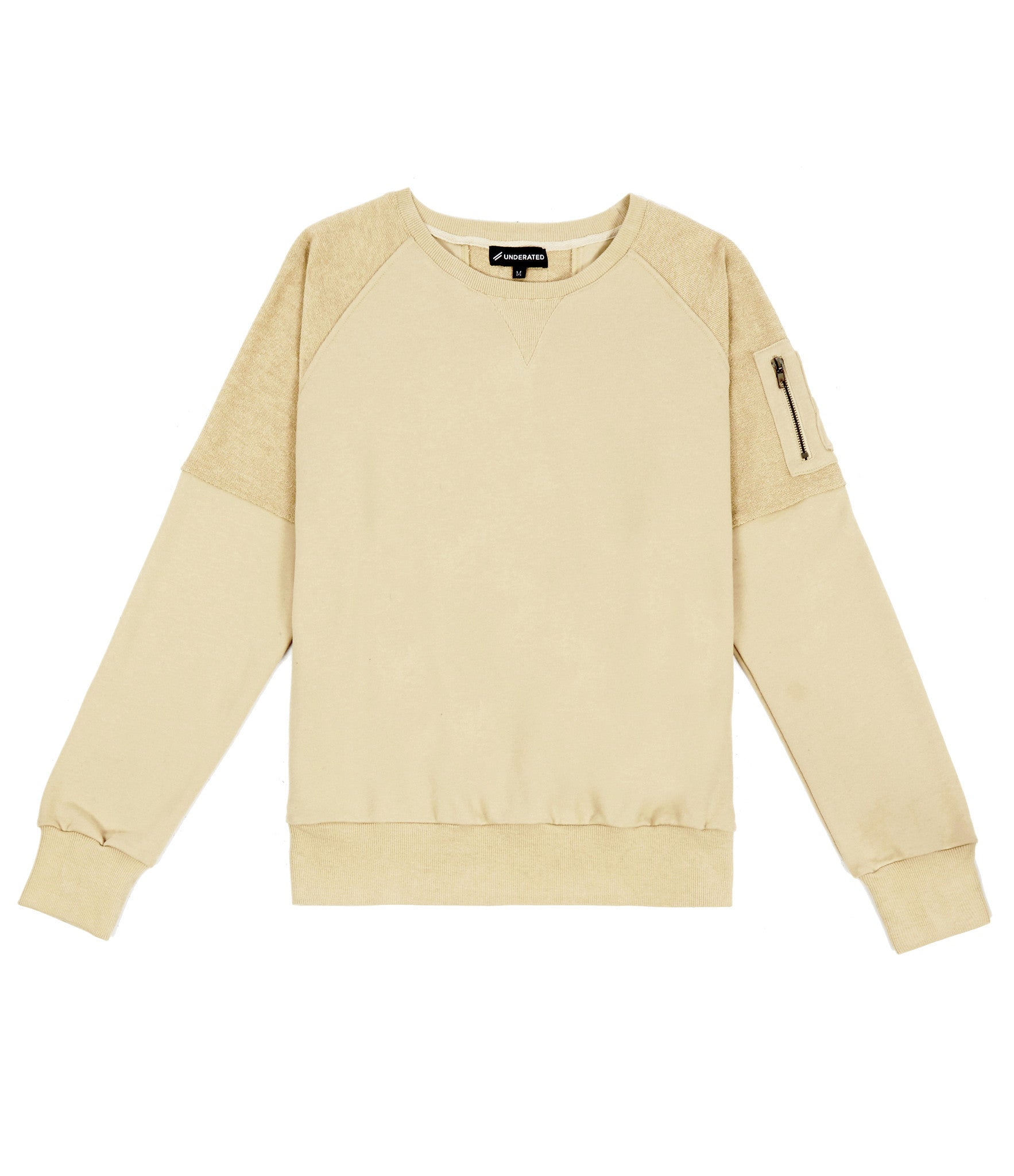 SW229 Oversized Utility Sweatshirt - Beige - underated london - underatedco - 1