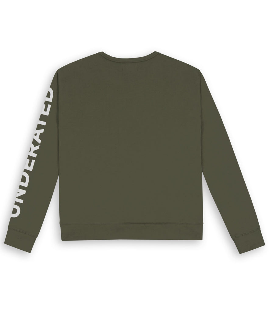SW344 Asymmetric Zip Sweatshirt - Khaki - underated london - underatedco - 3