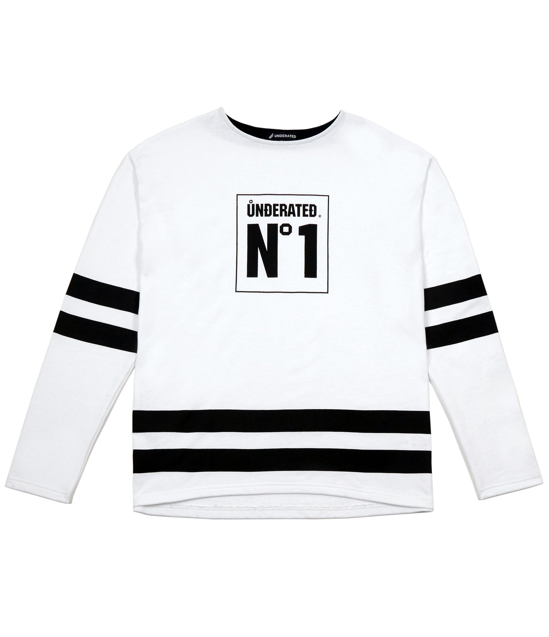 SW313 No.1 Printed Sweatshirt - White - underated london - underatedco - 1
