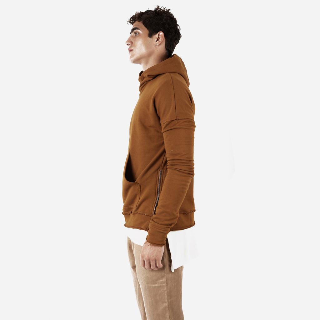 HD315 Exile Oversized Hoody - Clay - underated london - underatedco - 5