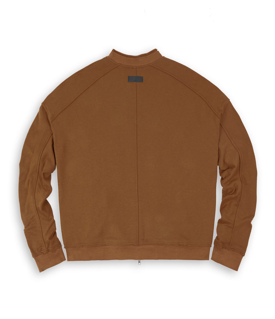 BM290 Exile Oversized Bomber Jacket - Clay - UNDERATED