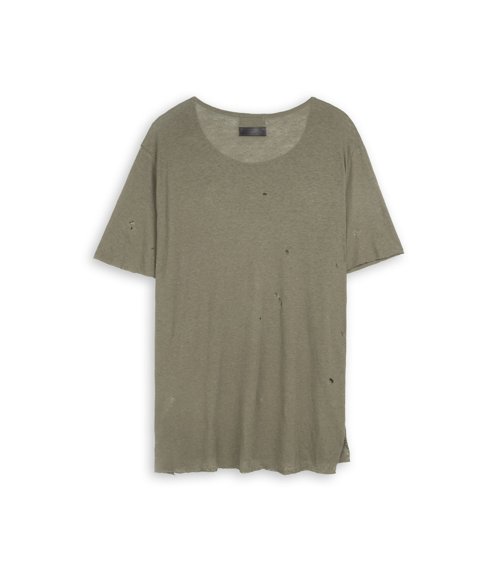 D10V2 Exile Distressed Tee - Khaki - underated london - underatedco - 3