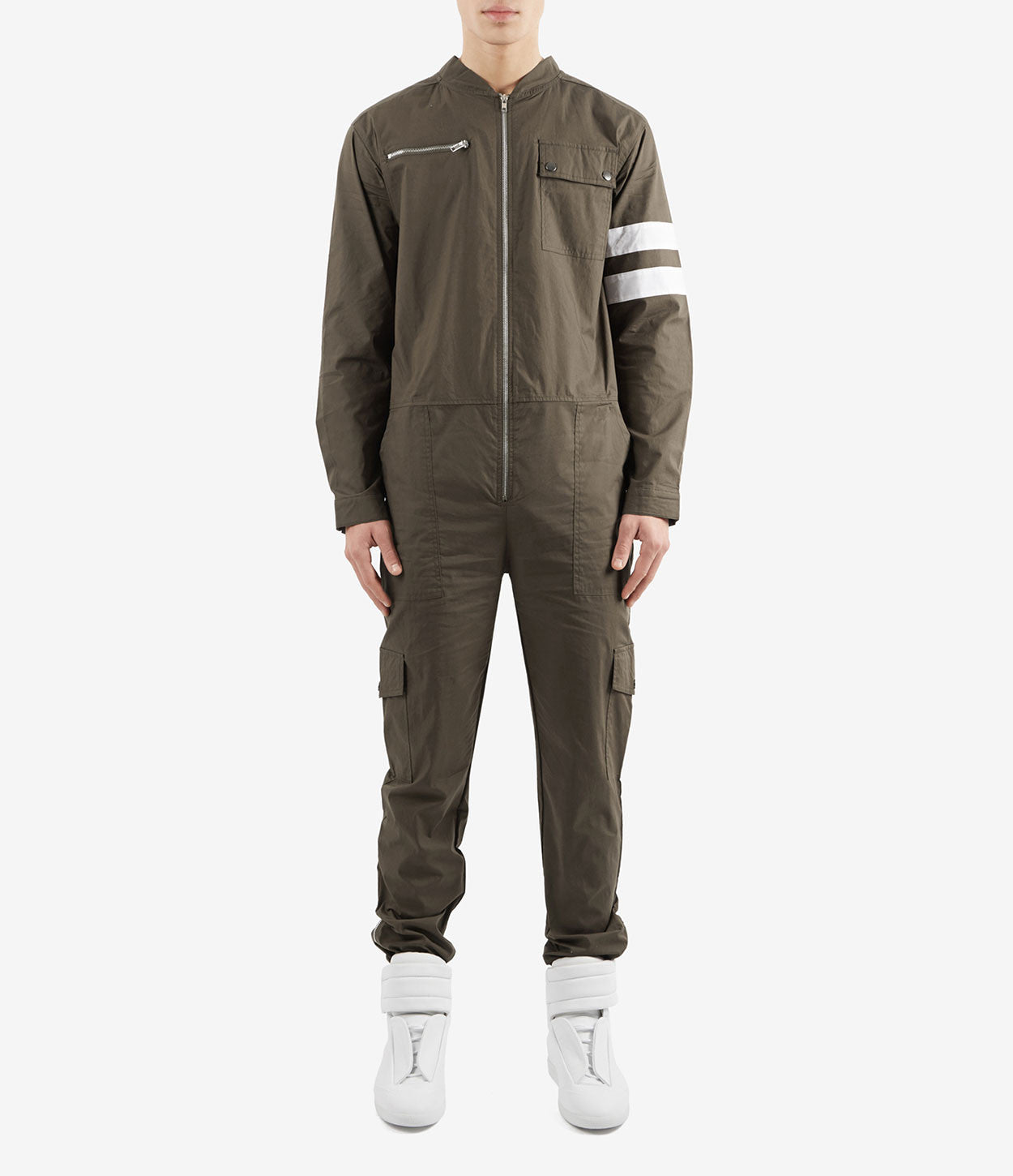 JS368 Boiler Suit - Khaki - underated london - underatedco - 2