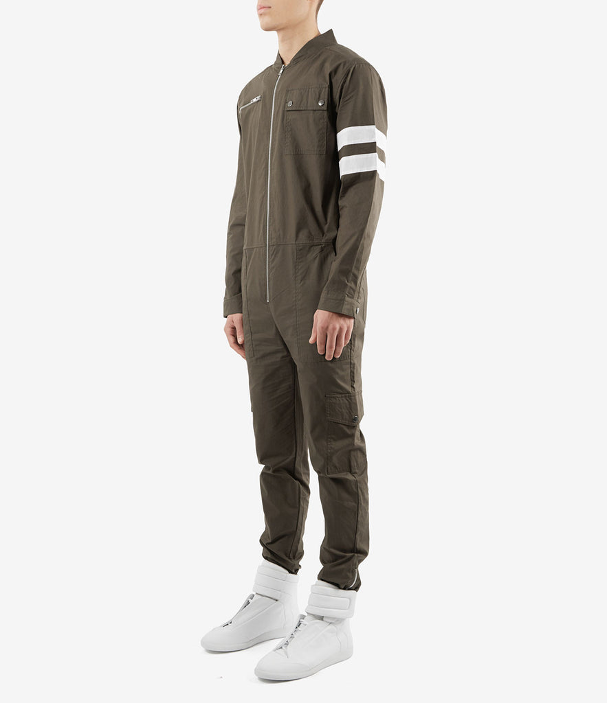 JS368 Boiler Suit - Khaki - underated london - underatedco - 4