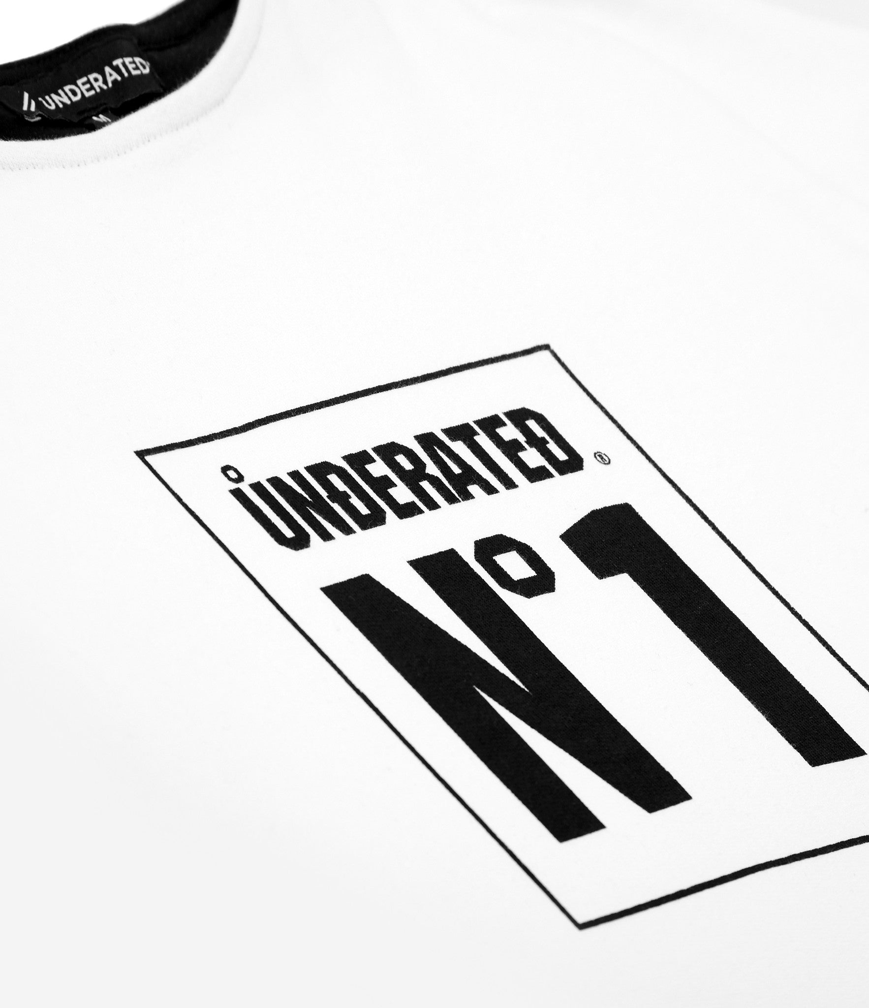 SW313 No.1 Printed Sweatshirt - White - underated london - underatedco - 2